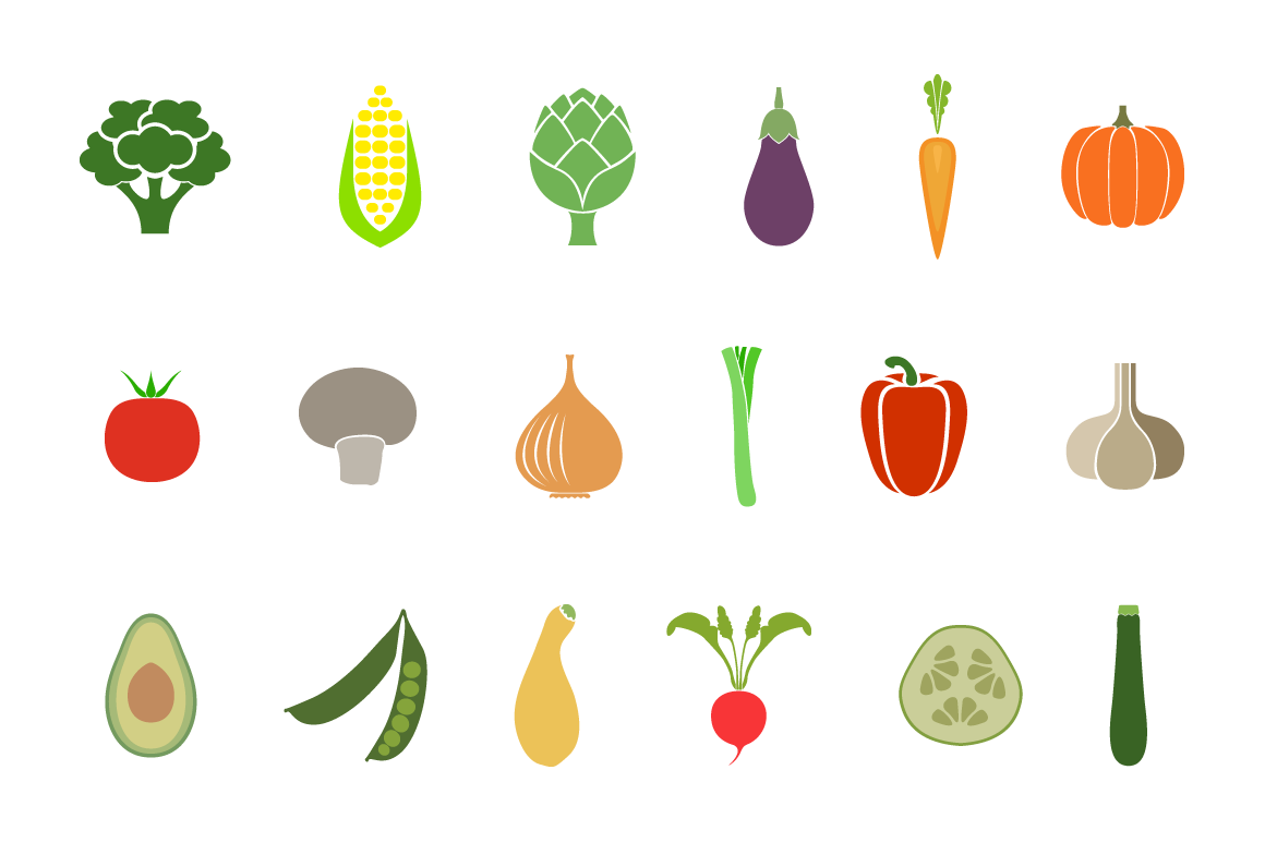 vegetable badges icons on creative market