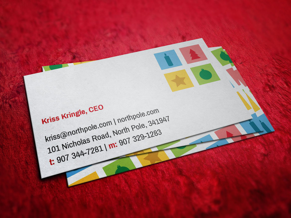 santa claus christmas business card