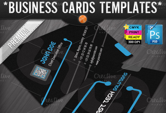 technology business cards templates