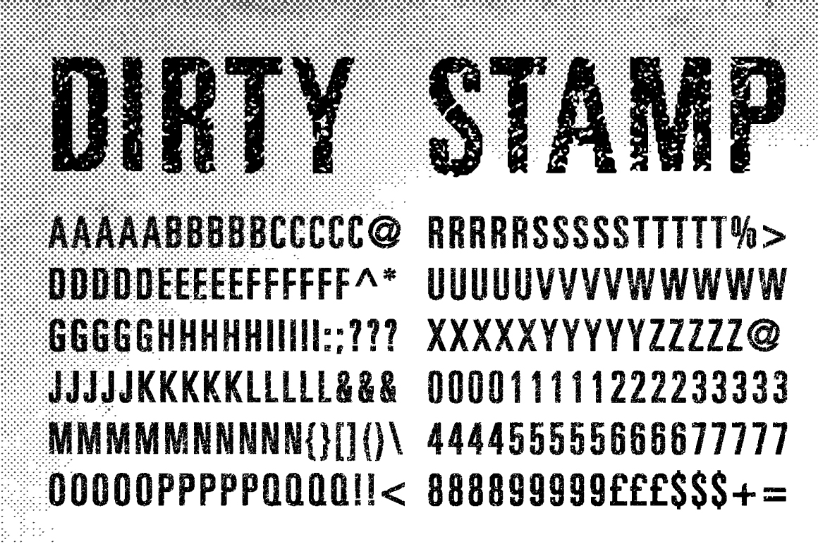 Dirty Stamp Vector Characters ~ Textures on Creative Market