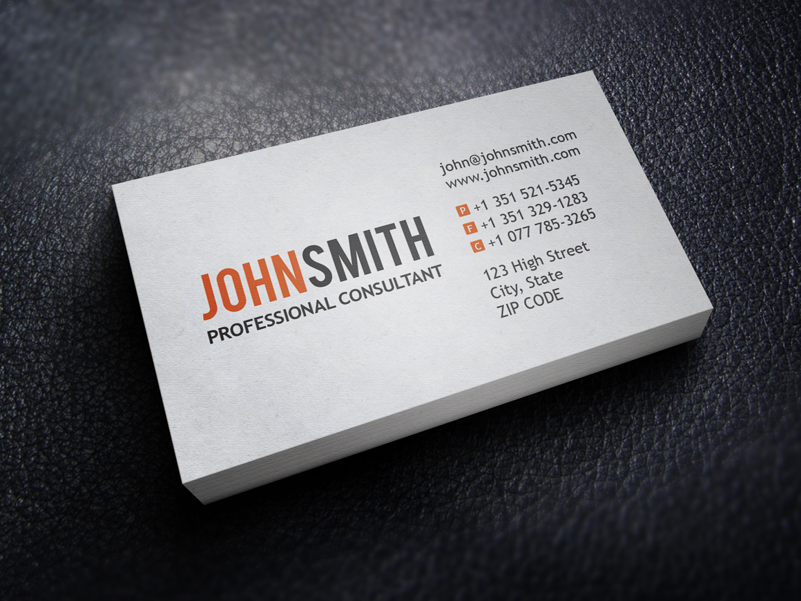 Professional Business Card Template Business Card Sample