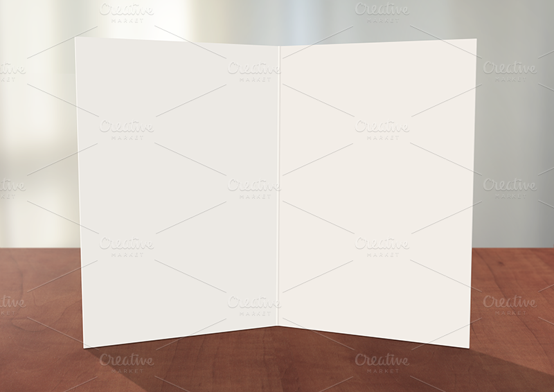 Greeting card photoshop mockup card templates on creative market for Photoshop christmas cards templates