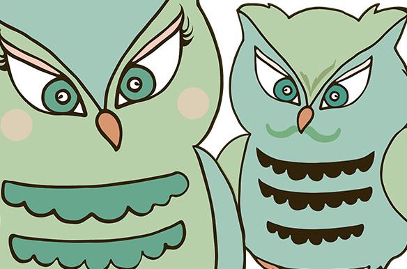 Mint Green Owl ClipArt ~ Illustrations on Creative Market