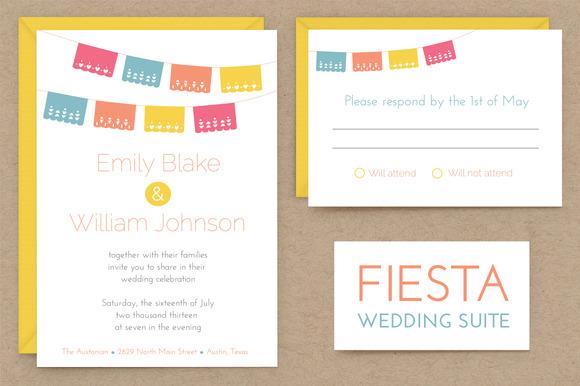Fiesta Wedding Invitation Suite ~ Invitation Templates on ...