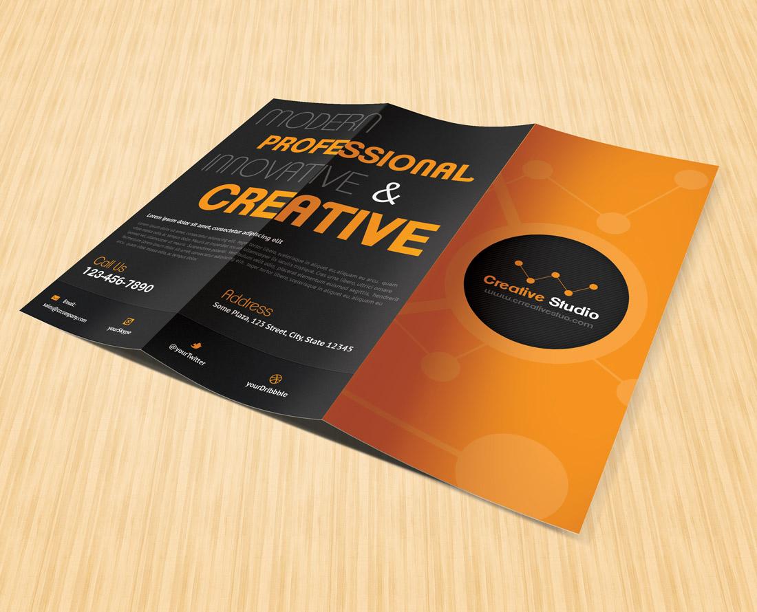 tri fold brochure template open office - creative studio trifold brochure brochure templates on