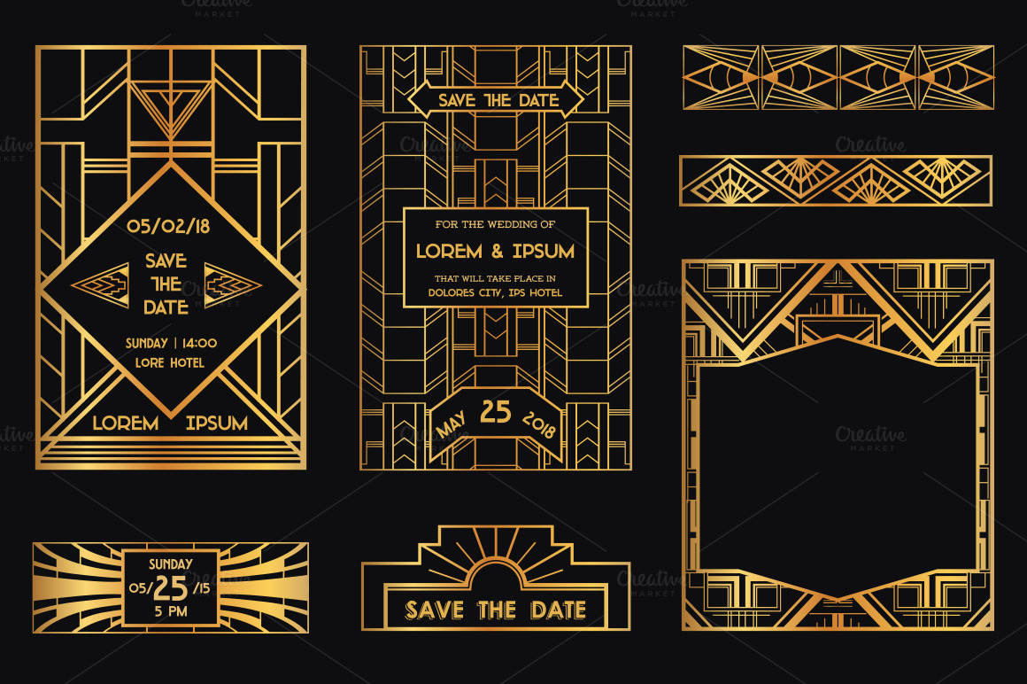52 art deco design elements vol 3