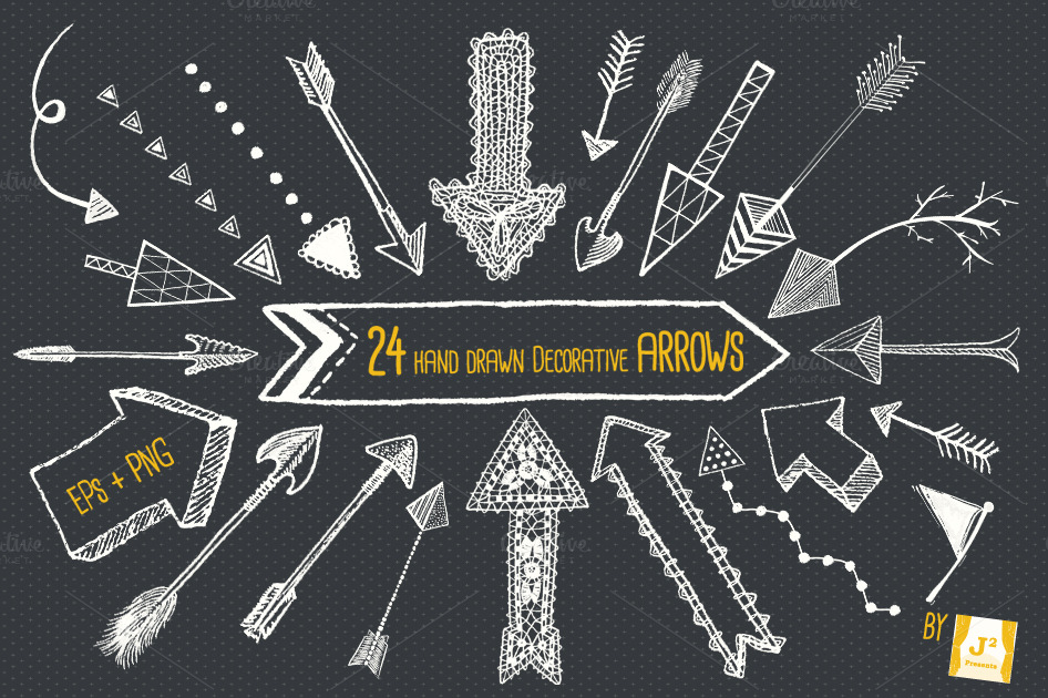 Decorative Arrow Clip Art Chalkboard Arrow Clip Art