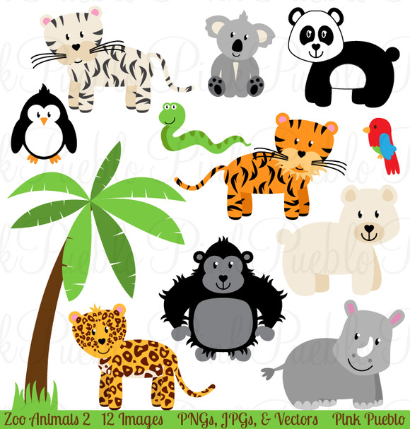 clipart of jungle animals - photo #27