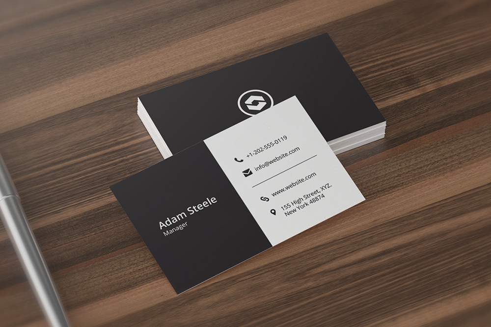 minimal business card template business card templates on creative market. Black Bedroom Furniture Sets. Home Design Ideas