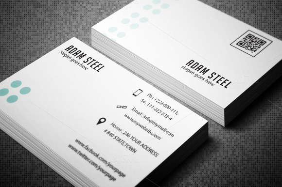 Simple Minimal Business Card Business Card Templates on