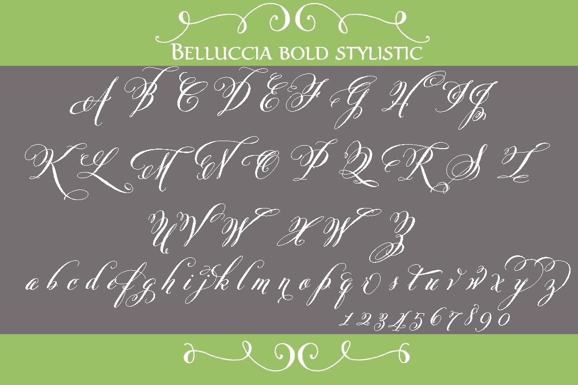 Belluccia Pro Bold Font Script Fonts On Creative Market