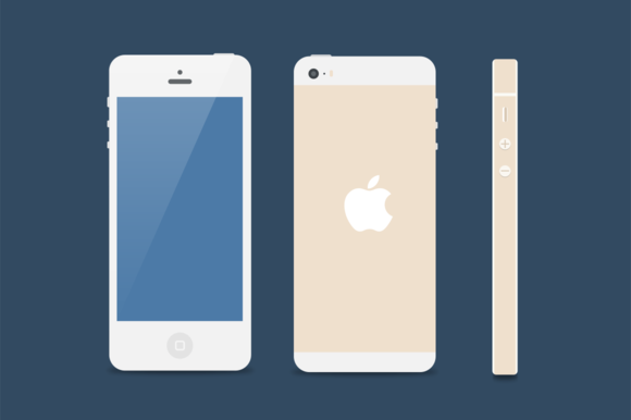 Flat iPhone 5s Mockup ~ Product Mockups on Creative Market