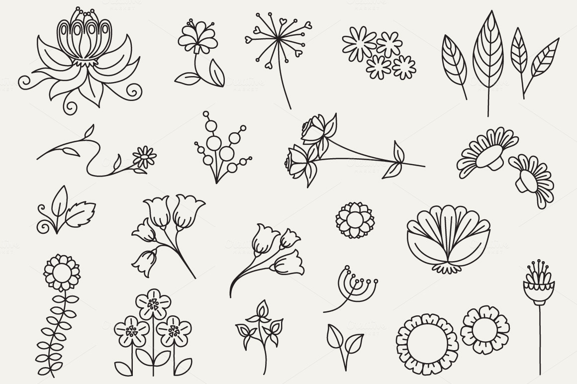 Flower doodles car interior design for Small art drawings