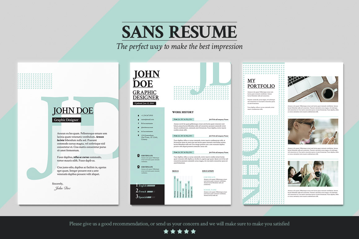 Sans resume cover letter portfolio resume templates on for Good interior design websites