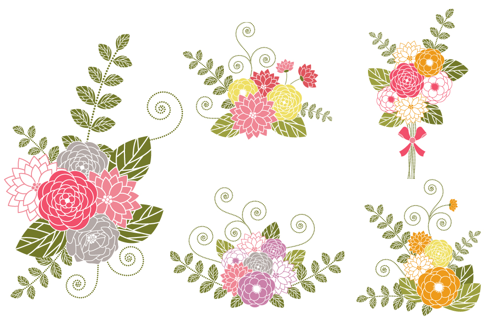 Flower Bouquets Clip Art ~ Illustrations on Creative Market