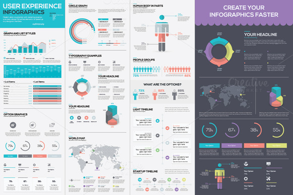 Infographic Template Vector Kit ~ Illustrations on ...