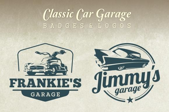 Classic Car Garage Badges Amp Logos Objects On Creative Market