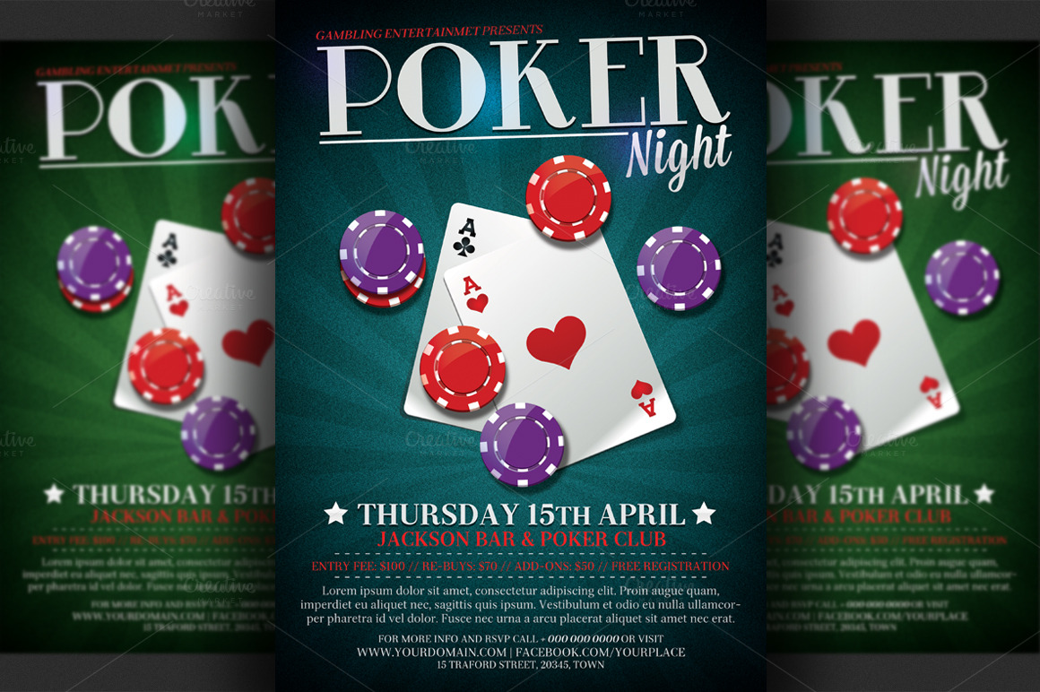 Free poker night poster template - Testo canzone roulette system ...
