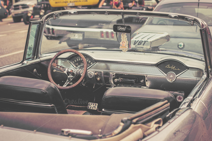 Classic car interior transportation photos on creative for American classic interior