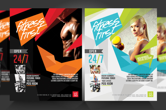 Exceptional Fitness Flyer Gym Flyer V3 Flyer Templates On Creative Nice Ideas