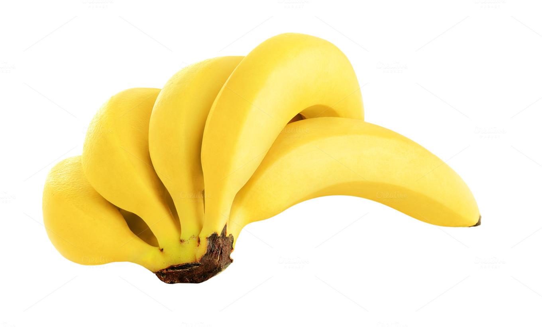 Banana on transparent background ~ Food & Drink Photos on ...