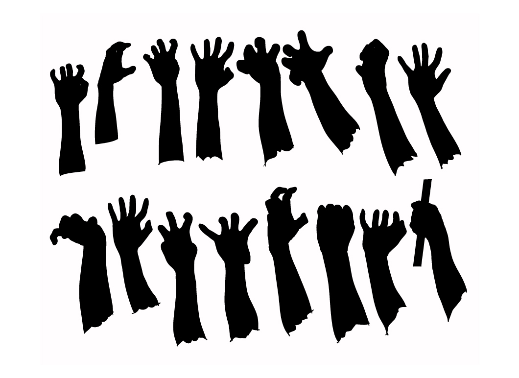 hands black-o jpg 1409534023Zombie Hand Silhouette