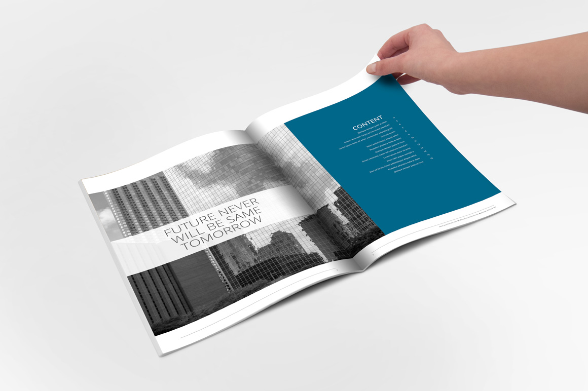 annual report indesign template brochure templates on creative market. Black Bedroom Furniture Sets. Home Design Ideas