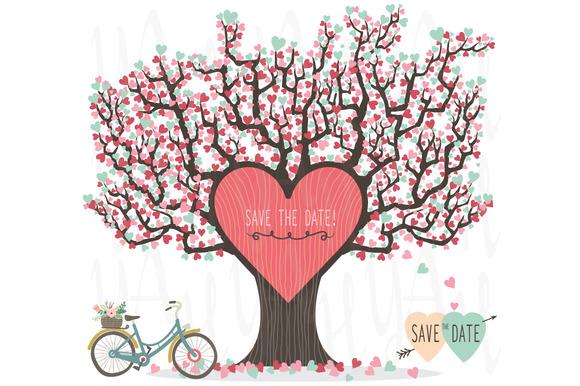 Love Tree Wedding Invitation ~ Illustrations on Creative Market