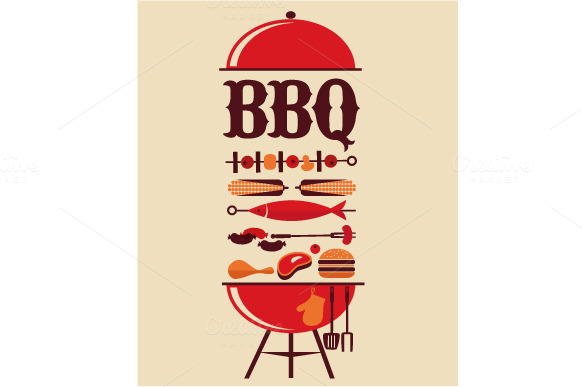 bbq infographics  u0026 party invitations