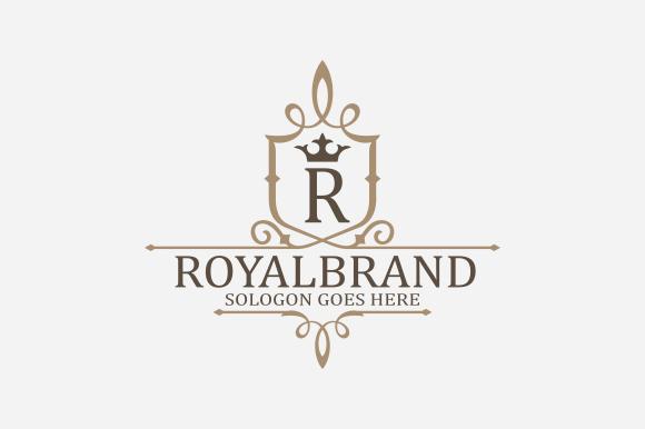 royal brand logo v3 logo templates on creative market. Black Bedroom Furniture Sets. Home Design Ideas