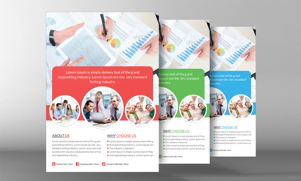Insurance agency flyer template flyer templates on for Insurance brochure template