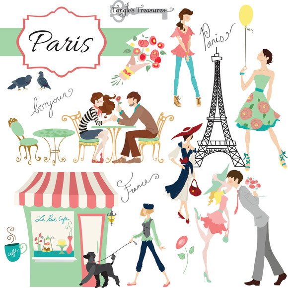 Paris Digital Clipart Set Graphics On Creative Market