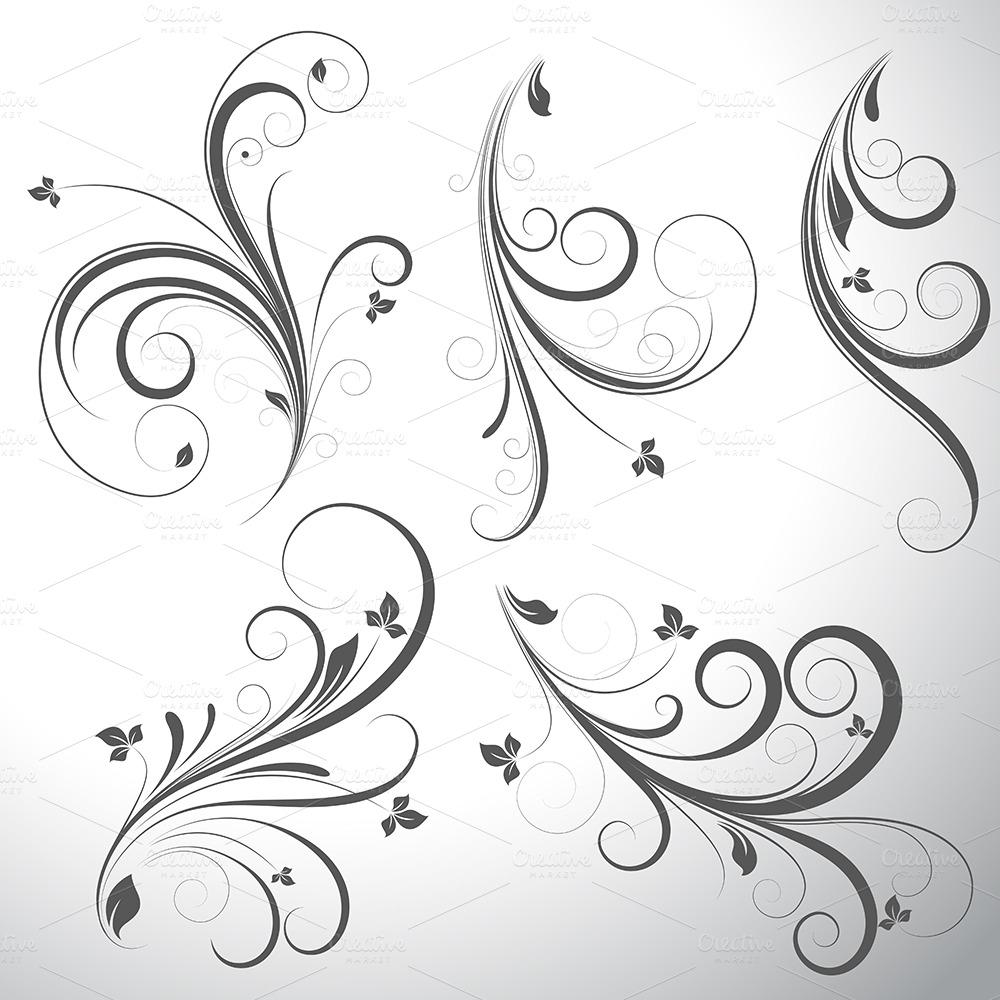 Western Design Elements Vector Free Swirls Vector Elements Designs