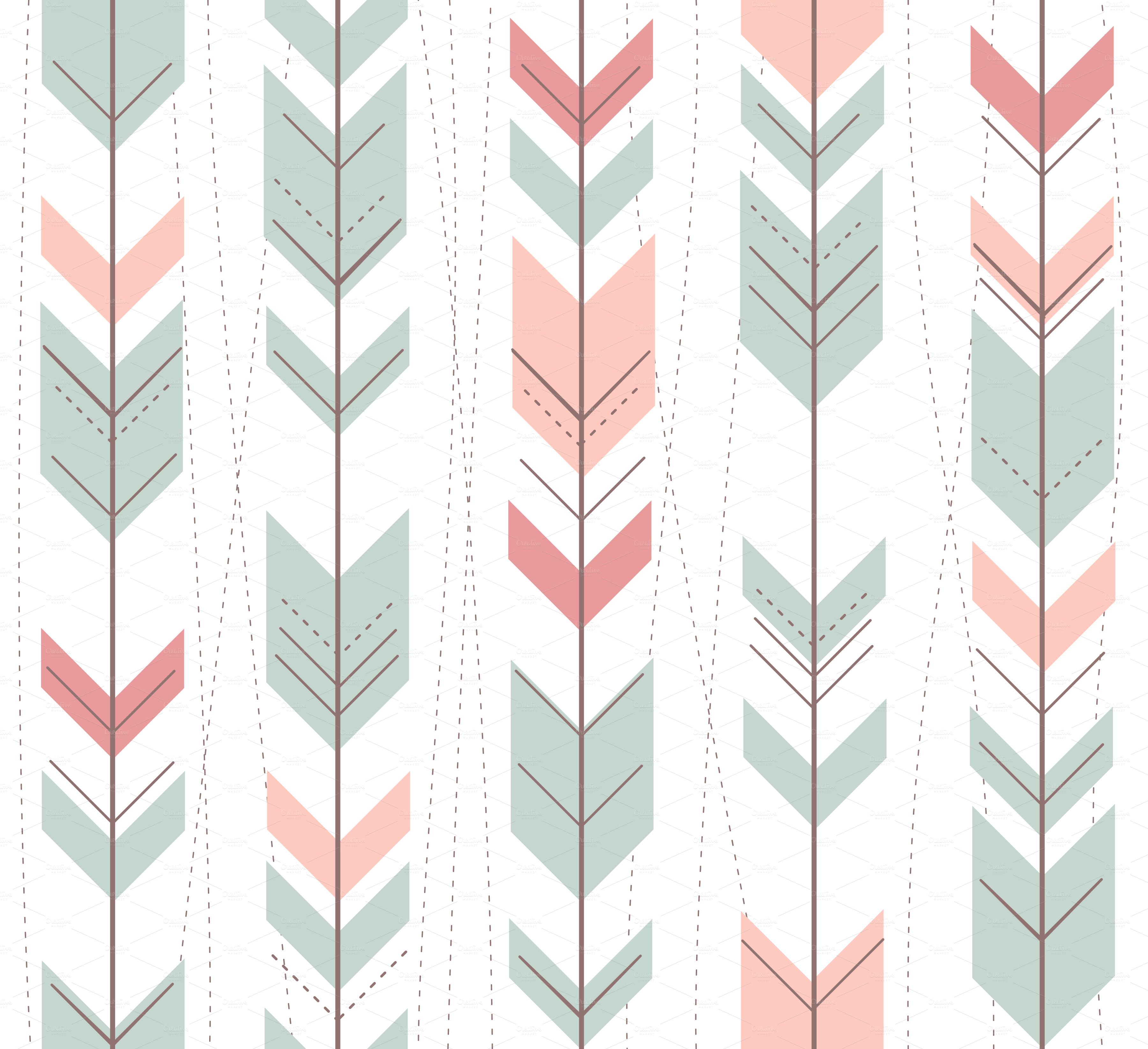 Aztec Tribal Pattern Wallpaper