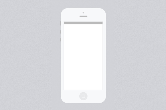 minimal white iphone 5 psd template product mockups on