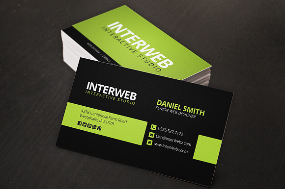 Web Designer Business Card Business Card Templates on