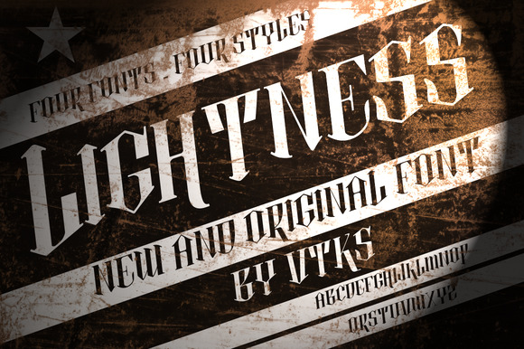 Lightness 4 fonts by Vtks - Fonts - 1