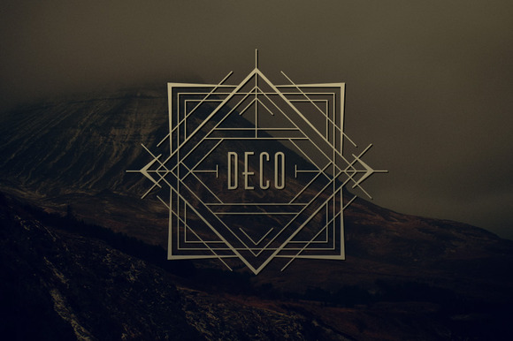 24 art deco badges logo templates on creative market. Black Bedroom Furniture Sets. Home Design Ideas