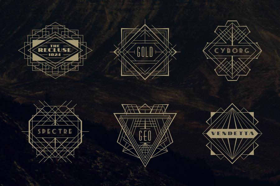 24 Art Deco Badges ~ L...