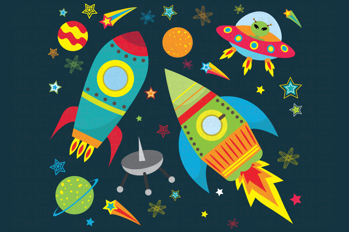 Outer space clipart ~ Illustrations on Creative Market