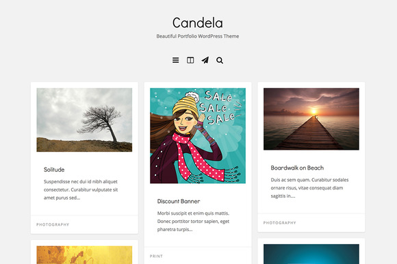 Candela Portfolio WordPress Theme - Portfolio - 1