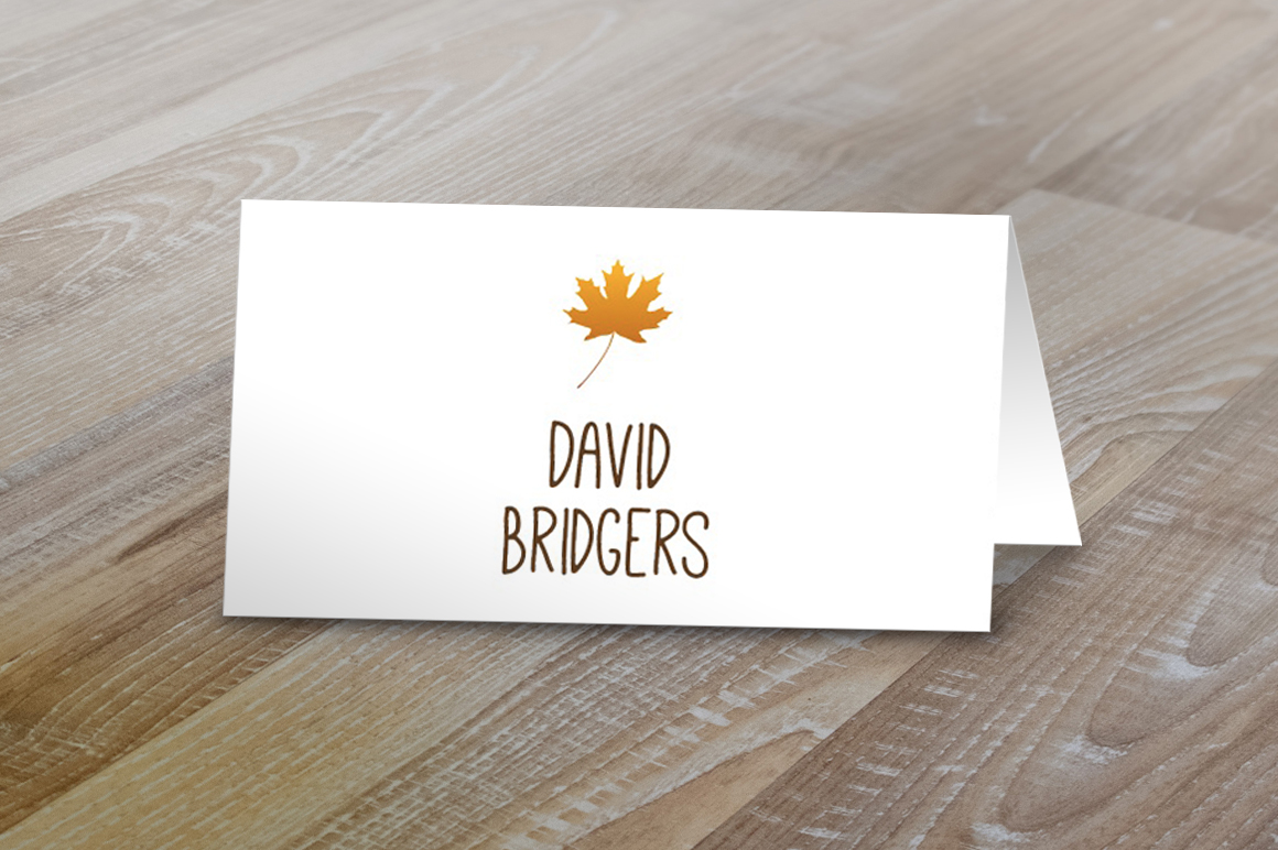 free tent card template - fall table tent name cards card templates on creative market