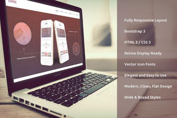 Tone Responsive Bootstrap Theme - Bootstrap - 1