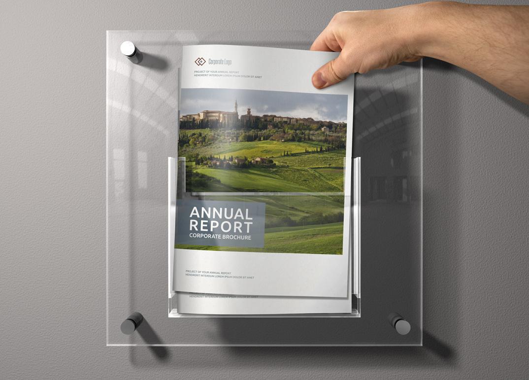 annual report sharp indesign templat brochure templates on creative market. Black Bedroom Furniture Sets. Home Design Ideas