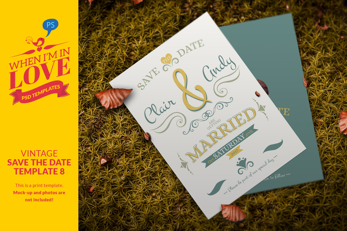 Vintage save the date template 8 invitation templates on for Vintage save the date templates free