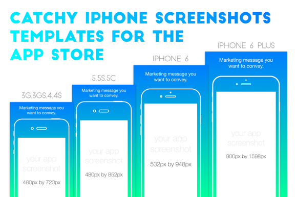 app store screenshot template iphone appstore screenshots template illustrations on