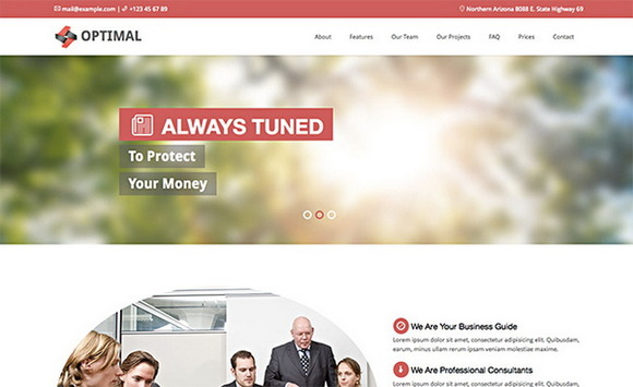 Optimal – Premium Theme For Business - Bootstrap - 1