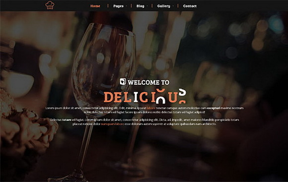 Delicious – Restaurant & Cafe theme - Bootstrap - 1