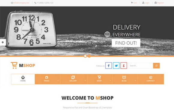 MShop – E-Commerce Delivery Theme - Bootstrap - 1