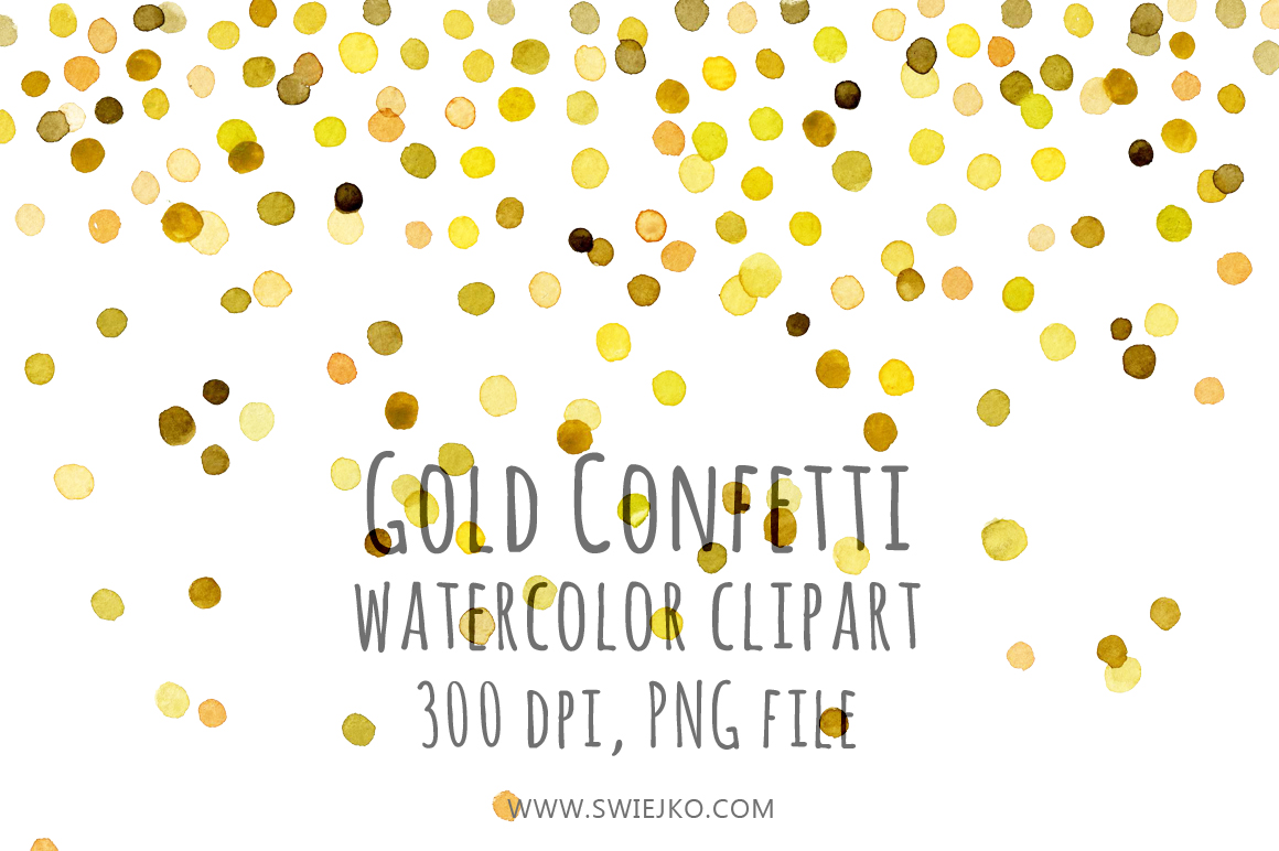 Watercolor Clipart, Gold ~ Illustrations on Creative Market